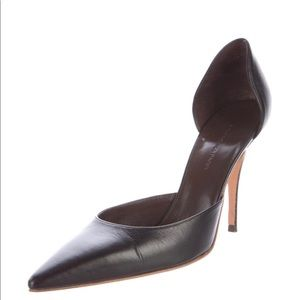 Balenciaga Leather Pointed d'Orsay Pumps